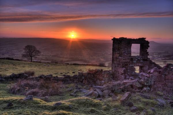 Farmhouse Sunset by PaulaLey