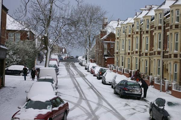Snow today by Barbaraj