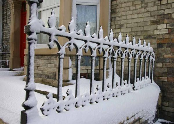 Snow on rails / pattern by Barbaraj