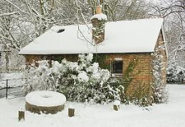 hut and millstone