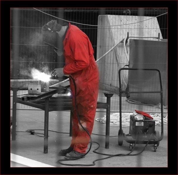 Danger man at work by bombmac