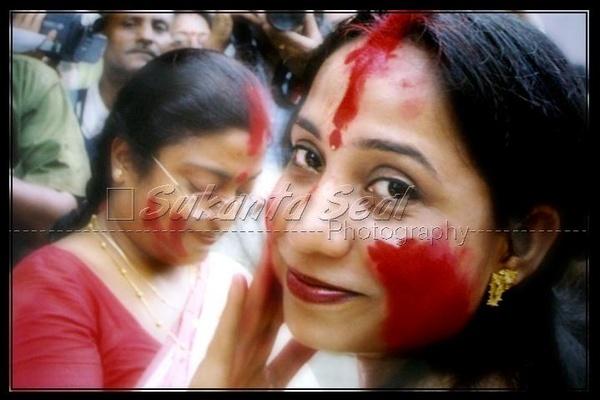 my wife at MANDAP ( SINDUR KHALA) by sukantaseal