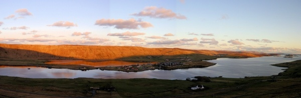 pan view of weisdale voe,shetland by ireid7
