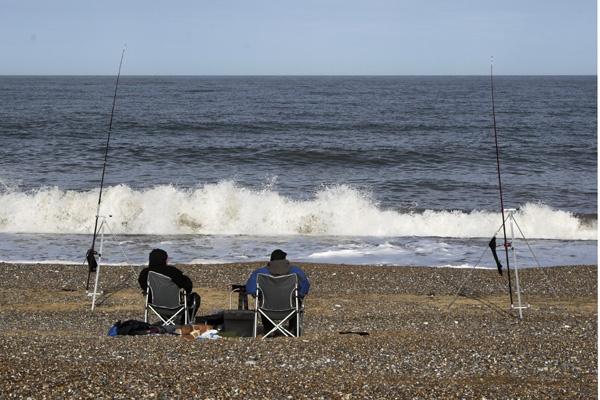 Beach fishing - Cley by EeeZeeLee
