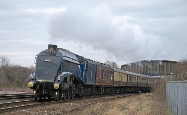 Sir Nigel Gresley At Trent Junction by spikemoz