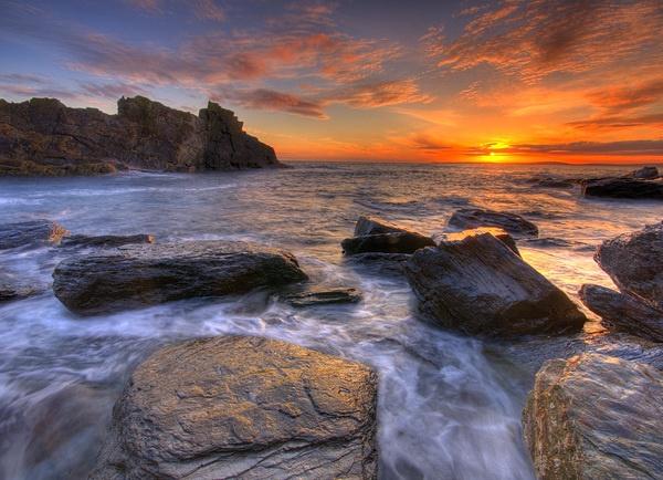 Atlantic sunset by Robert_Fudali