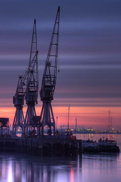 Northfleet Docks, Thameside, Kent by derekhansen