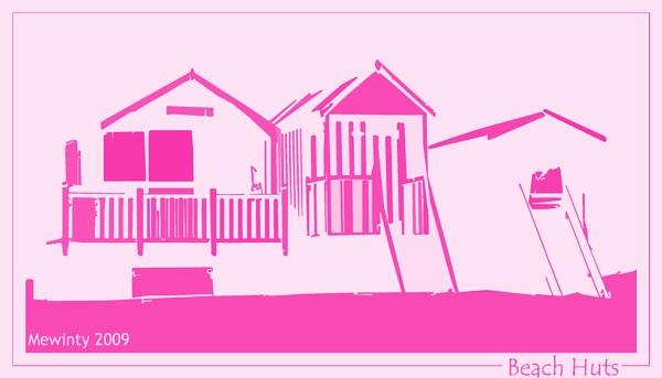 Norfolk Beach Huts by Mewinty