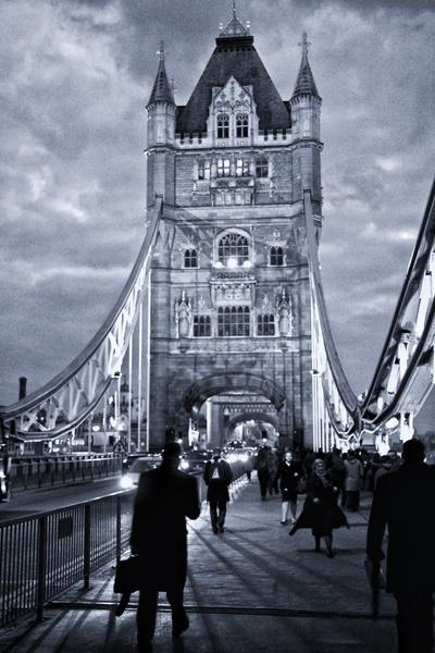 Tower Bridge Commuters by fourdavisons