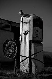Dunmore Petrol Pump - B&W by groverjones