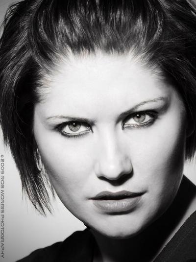 Aimee B&W by RobMorrisPhotography