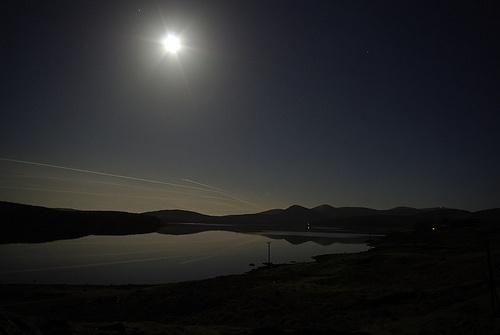 Worm Moon At Loch Doon by DaveH64