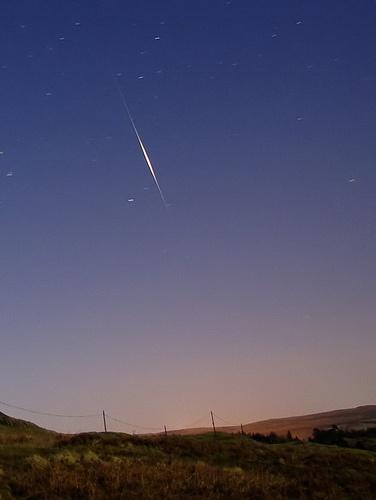 Iridium Flare Satellite by DaveH64