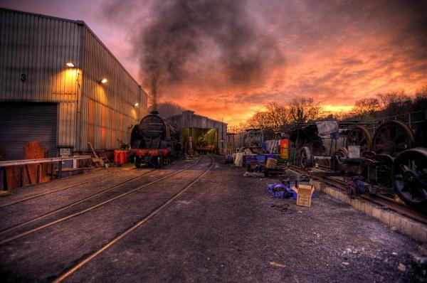 Steam Shed Sunrise by Hailwood