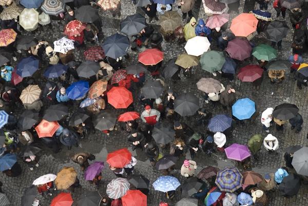 Prague in the rain by Rorymac