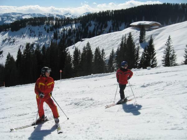 Skiing by Sarahhanson