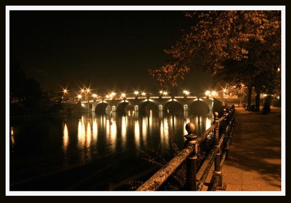 Worcester bridge by night by acididko