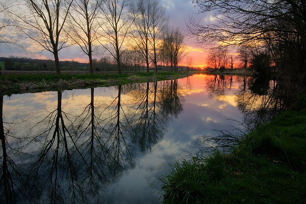 River Chelmer sunset by duncanamps