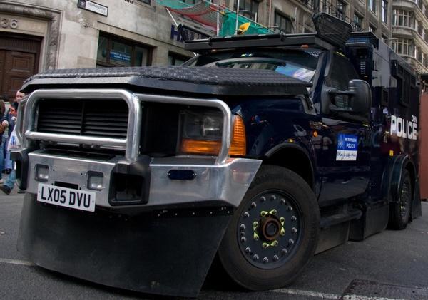 G20 Financial Fools day Riot van