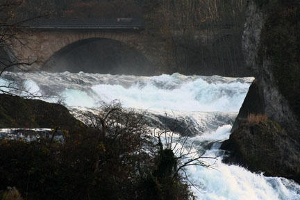 Bridge Over Troubled Water(Rhine Falls) by BarrieC