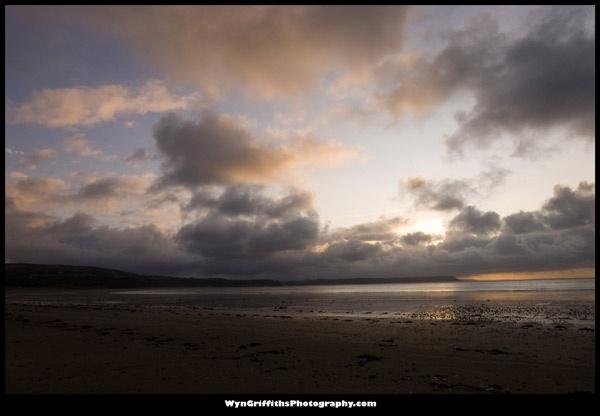 Oxwich Bay Sunrise by Wyn