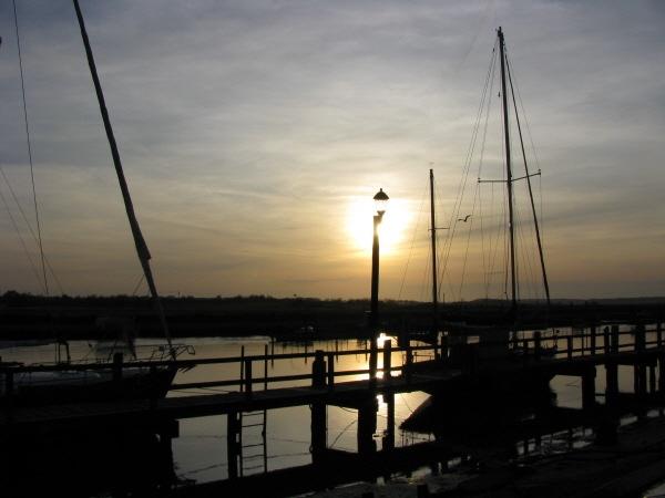 Southwold Harbour Sunset by LindaSJ