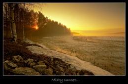 MISTY SUNSET...