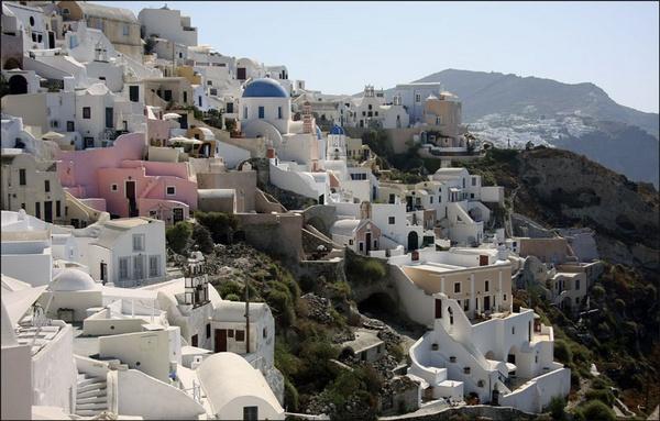 Santorini Village by Malcolm Downes