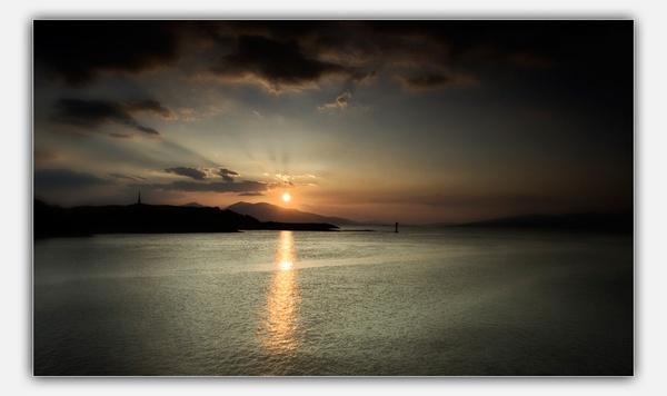 sunset by bombmac