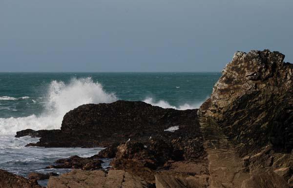waves at Penzance by tinareid1