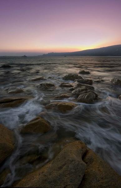 sunrise off the Rocks by soppygreatdane