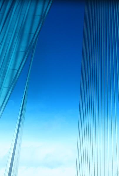 Blue Bridge Abstract by Debs_Rocker