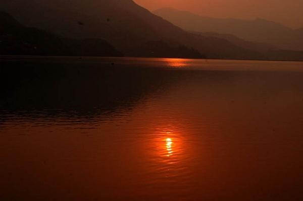 sunset at Pokhara by phal