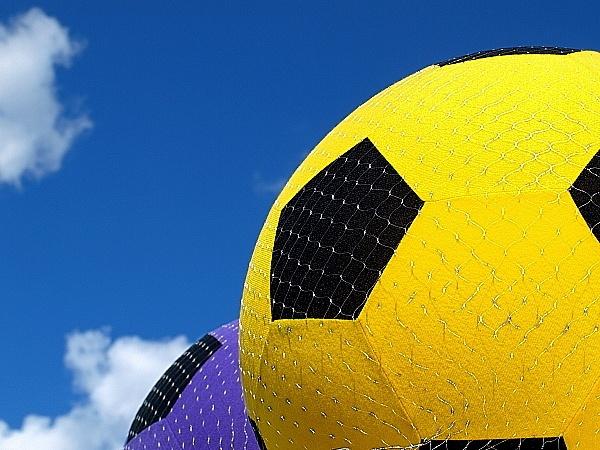 Fairground footballs by Ginamagnolia