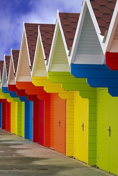 Beach Huts by chazcherry