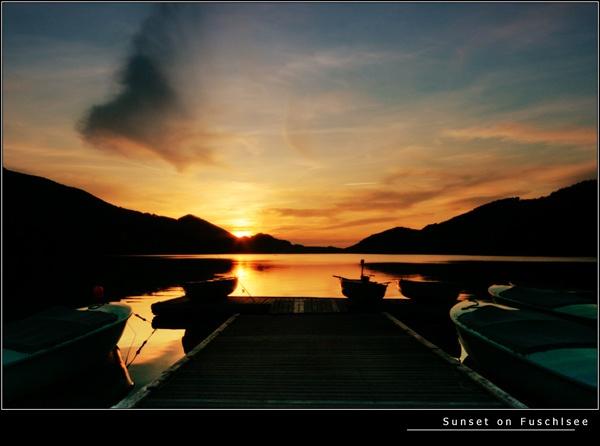 Sunset on Fuschlsee by 11thearlofmar
