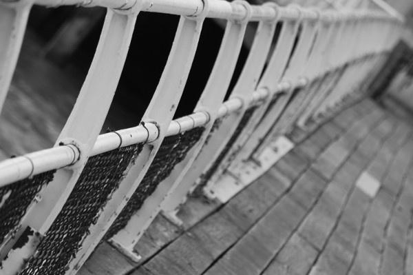 Clacton Pier Rails by danleatherdale