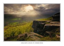 Sunlight and Rain at Curbar Edge