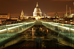 St. paul's at night