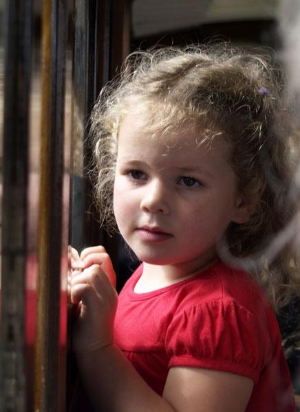 Girl on Train by kevtrucker
