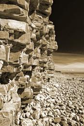 Seaside rock,  toned
