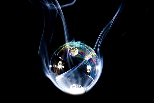 My bubble craddled in smoke by zulupentax