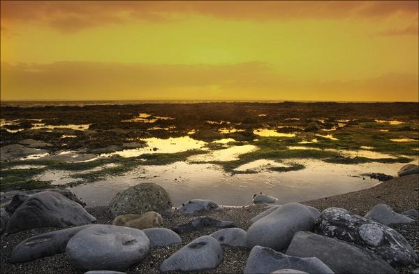 sunset on west coast of Ireland by wavey