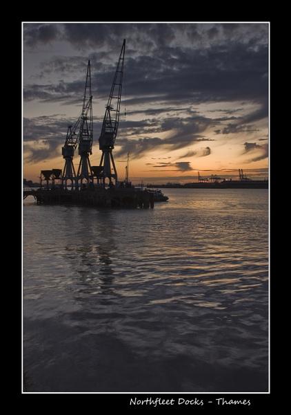 Northfleet Docks, Thames by derekhansen