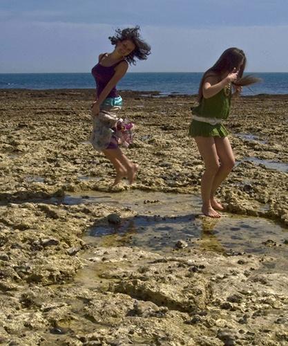Beach side Juming & Dancing by akhtarkhan
