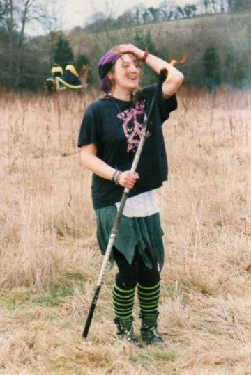 girl with fire stick by bernie32