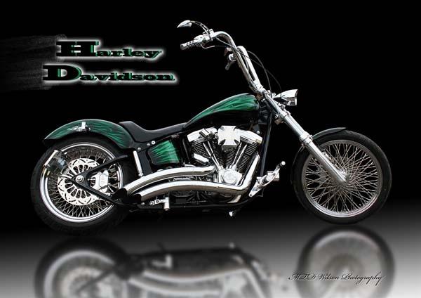 Tommys Harley by Woodlander