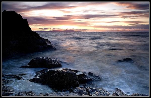 arran sunset by v8dunc