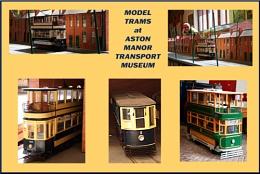 Model trams montage