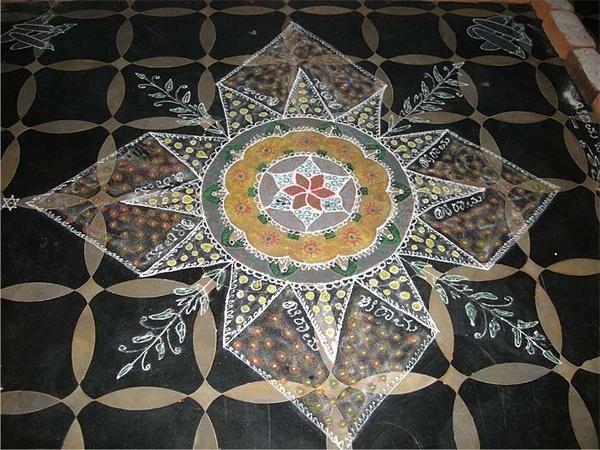 Rangoli.. Designs on floor by moonboyindia